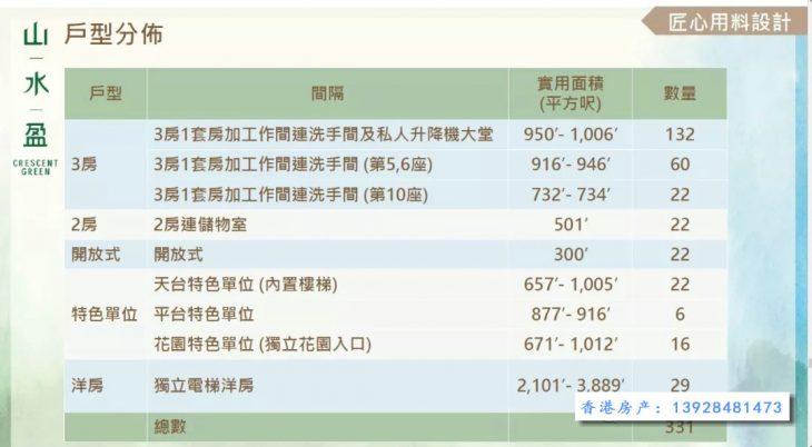 香港山水盈户型图008